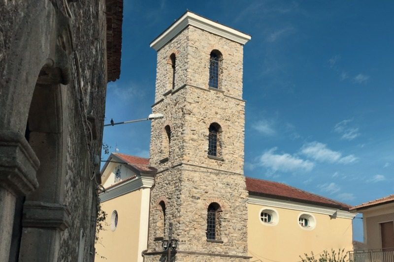 Foria di Centola, Chiesa e campanile della Madonna delle Grazie